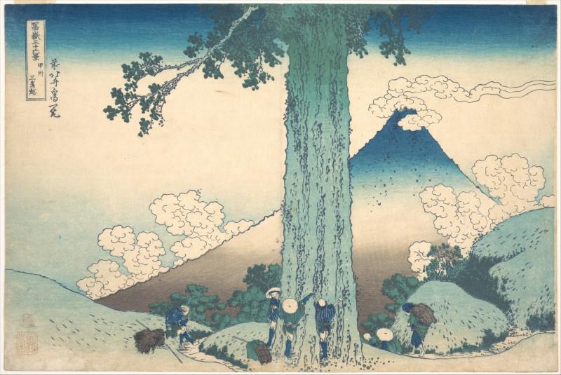 File:Katsushika Hokusai - Thirty-Six Views of Mount Fuji- The ...