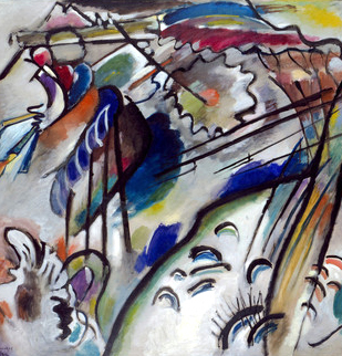 Improvisation 28, 1912.  Second Version, Wassily Kandinsky. Oil on Canvas. Solomon R. Guggenheim Museum, New York, Solomon R. Guggenheim Founding Collection, By gift