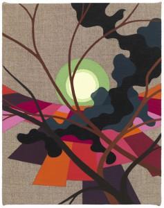 Shifting Arena, 2014 Eske Kath, Acrylic on unprimed linen
