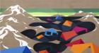 Shore, 2014 Eske Kath, Acrylic and coal on unprimed linen