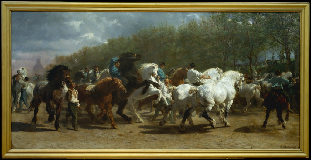 Vanderbilts' gift to The Metropolitan Museum in NYC. Rosa Bonheur, The Horse Fair, 1853–55