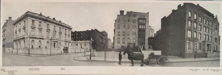 Leo Stein's mansion seen on the far left of the image
