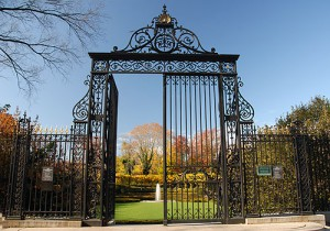 Cornelius Vanderbilt Gates at the entrance of Central Park