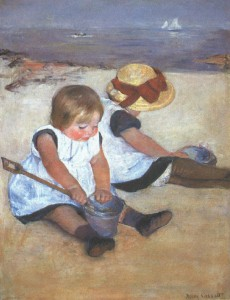 Mary Cassatt, Children on the Beach