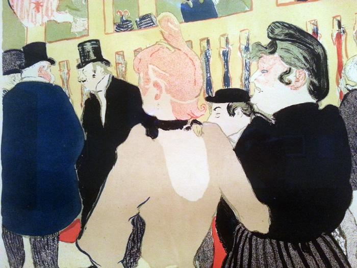 La Goulou, 1894 Detail, Toulouse Lautrec, MoMA