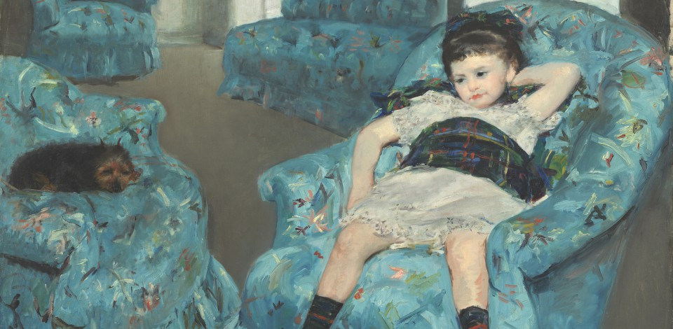 Mary Cassatt (American, 1844 - 1926 ), Little Girl in a Blue Armchair, 1878, oil on canvas, Collection of Mr. and Mrs. Paul Mellon