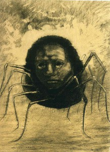 Odilon Redon, The Crying Spider 1881
