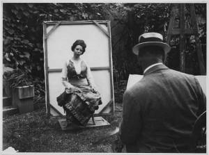 Gertrud Müller posing for Ferdinand Hodler, Foto: Schweiz, Winterthur