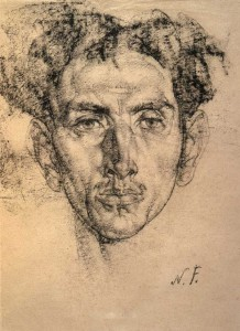 Nicolai Fechin, charcoal drawing