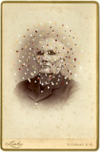Butler, Tom 'Locke', 2014 Gouache on Albumen print 16.5x10.5cm