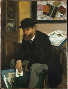 Met Museum, The Collector of Prints, Edgar Degas, 1866 Oil on canvas