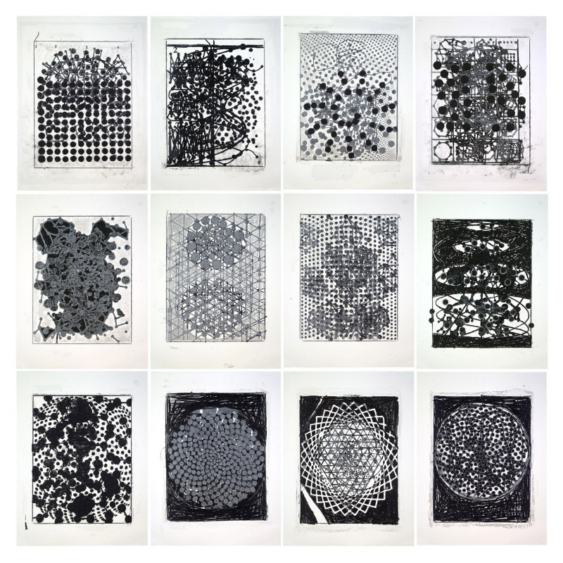 Terry Winters, Atmospheres, 2014. Set of 12 silkscreens