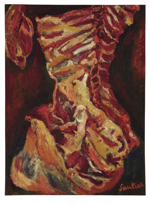 Cheim Soutine, Le Bœuf, Oil on canvas, Painted circa 1923 Image courtesy Christie's Images Ltd.
