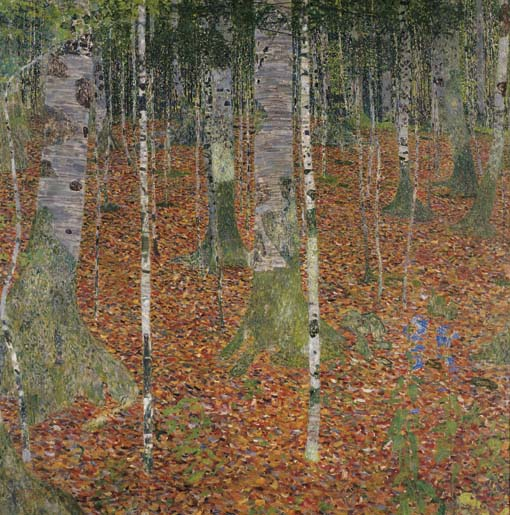 Gustav Klimt Birch Forest, 1913