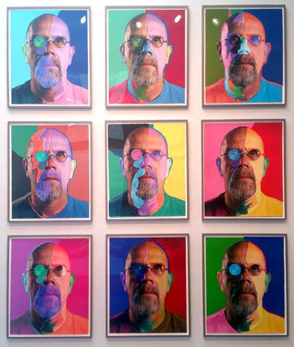 Chuck Close 9 collages