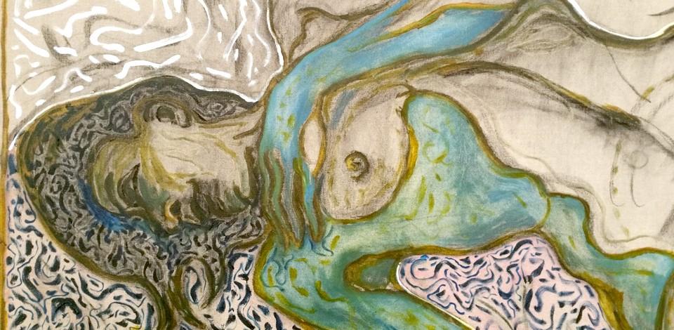 Billy Childish, Nude Reclining, Detail Lehmann Maupin