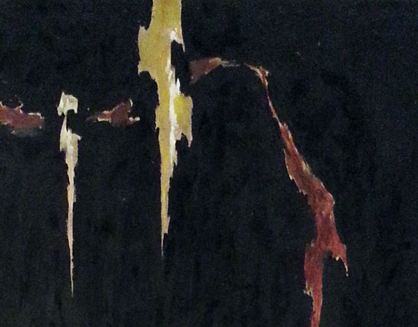 Clyfford Still, Detail: 1944-N No.2, Oil on Canvas. Image © Kristina Nazarevskaia