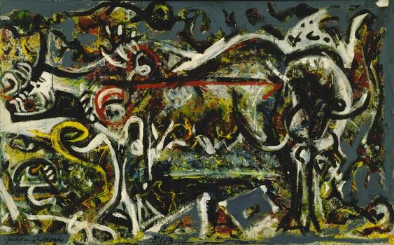 Jackson Pollock, Shewolf, Oil on canvas, 1943