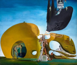 Salvador Dali, Birth of Liquid Desires (La naissance des désirs liquides), 1931 - 1932. Oil and collage on Canvas. ©Image courtesy Guggenheim Museum