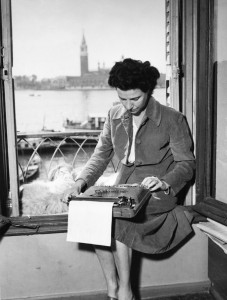 Peggy Guggenheim in Venice. Image courtesy of the Guggenheim Museum