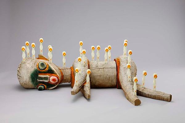 IZUMI KATO Untitled 2015 Wood Unique, Image courtesy Galerie Perrotin