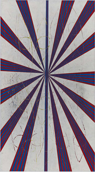 Mark Grotjahn, Captain America. Oil on canvas Image courtesy Gagosian Gallery