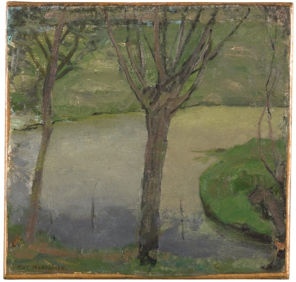 Piet Mondrian Irrigation Ditch with Two Willows, ca. 1900-1902 Oil on canvas on panel