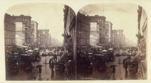 Broadway on a Rainy Day, Edward Anthony, Albumen Print, 1859 Courtesy Metropolitan Museum of Art