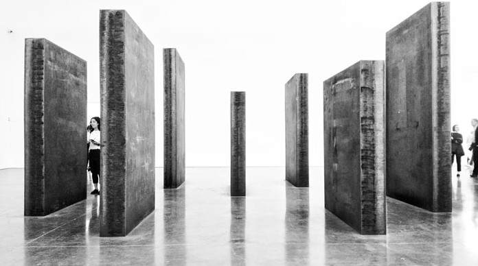Richard Serra, 'Every Which Way', 16 panels, Weatherproof steel, 2015 Gagosian Gallery Chelsea. Image © Kristina Nazarevskaia for galleryIntell