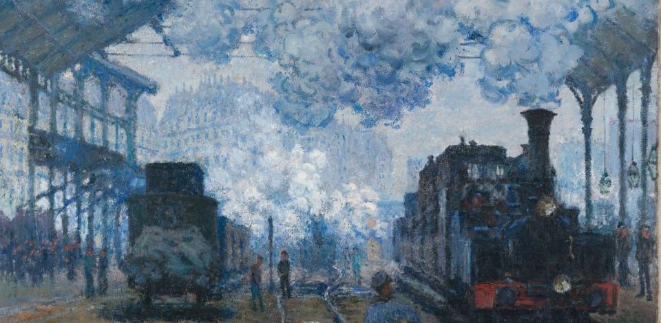 Claude Monet, 'The Gare Saint-Lazare- Arrival of a Train', 1877. In the collection of the Harvard Art Museum