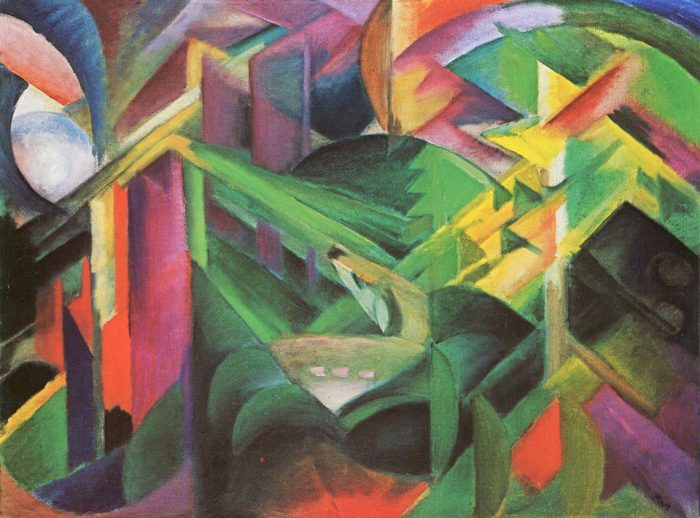 Franz Marc, 'Reh im Klostergarten', 1912 oil on canvas. Private Collection
