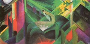 Franz Marc, Reh im Klostergarten, 1912 oil on canvas - galleryIntell