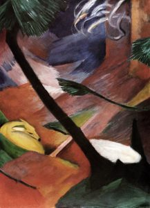 Franz Marc, 'Reh im Wald', 1912 oil on canvas