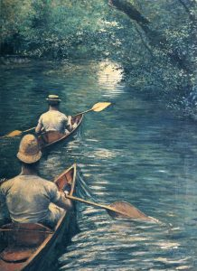 Gustave Caillebotte, The Canoes, 1878. Oil on canvas. Musée des Beaux-Arts de Rennes, Rennes, France