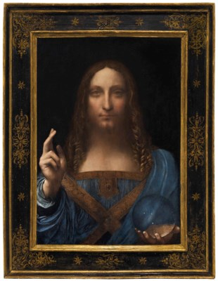 Leonardo da Vinci, Salvator Mundi, ca 1500. Christie's New York. Sold for $400 million