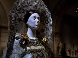 "Christian Lacroix. Haute Couture. Wedding Ensemble from autumn/winter 2009-10. ""Heavenly Bodies: Fashion and the Catholic Imagination"". ©Kristina Nazarevskaia for galleryIntell"