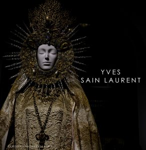 Yves Saint Laurent A statuary vestment for the Virgin of El Rocío, designed by Yves Saint Laurent ca. 1985.