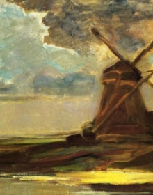 Windmill in the Gein by Piet Mondrian