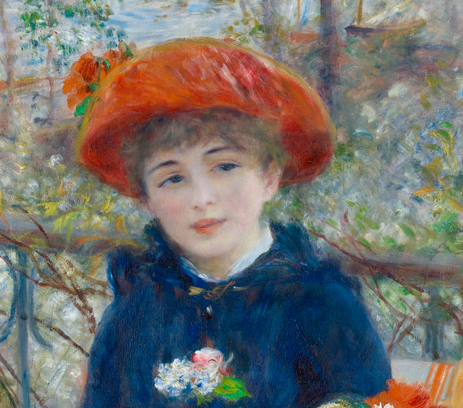 Two sisters by pierre auguste renoir galleryintell for On the terrace