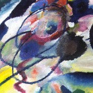 Wassily Kandinsky - first abstract painting - Picture with Circle, 1911