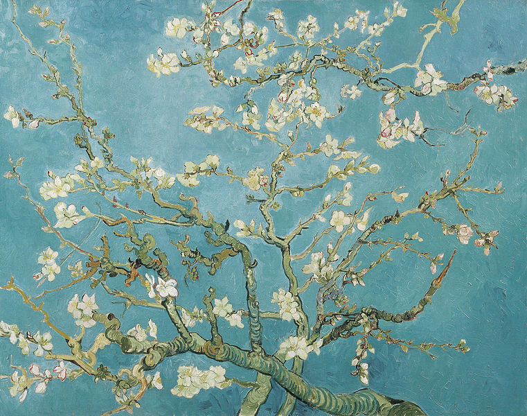 Vincent van Gogh, 'Branches of an Almond Tree in Blossom'', 1890. Van Gogh Museum
