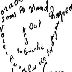Guillaume Apollinaire - Calligramme - Poème du 9 février