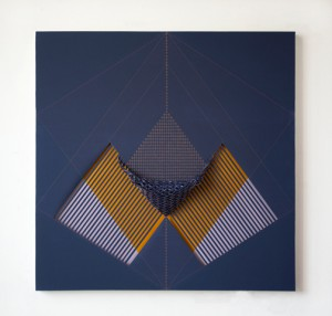 Cristina Camacho, Less than ⅓, Acrylic on canvas. Image courtesy Praxis Gallery