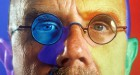 Chuck Close Red Yellow Blue, Pace Gallery, Collage Detail 1