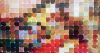 Chuck Close, Red Yellow Blue, Pace Gallery, Portrait detail. Photograph by Kristina Nazarevskaia