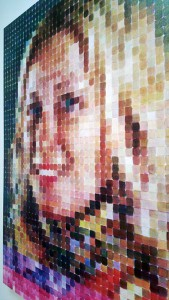 Chuck Close, Red Yellow Blue, Pace Gallery, Portrait. Photograph by Kristina Nazarevskaia