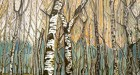 Billy Childish, Birch Tree Forest. Oil and Charcoal on linen