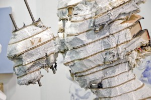 Wim Botha's encyclopedia carved double bust, Armory Show 2016. Image © Kristina Nazarevskaia for galleryIntell